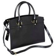 Merona Satchel Handbag with Removable Crossbody Strap, Black/White, $34.99