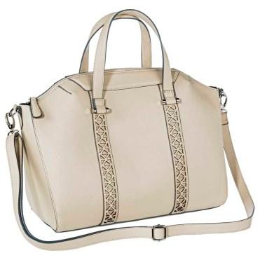 Mossimo Satchel Handbag with Crossbody Strap, Ivory, $39.99