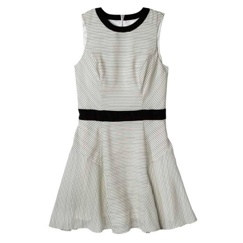 Mossimo Womens Banded Waist Dress, Sour Cream/Ebony, $27.99