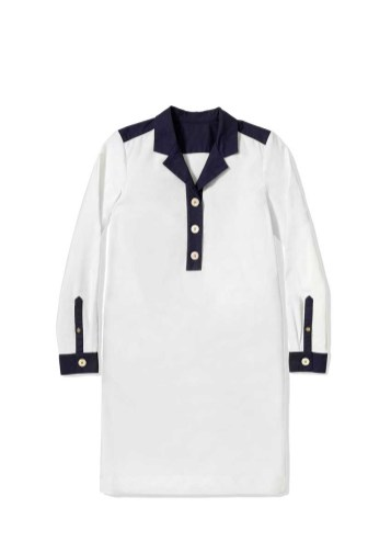 Tommy Hilfiger -- To Tommy from Zooey white shirt dress $129.50