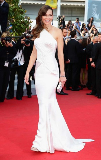 Hilary Swank in Versace Cannes 2014