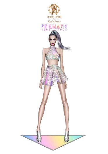 Roberto Cavalli for Katy Perry_Prismatic World Tour 2014 Look 3