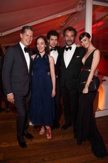 (L-R) Stefano Tonchi, Pamela Golbin, guest, Chairman & Creative Director of The Moncler Group Remo Ruffini and Paz Vega