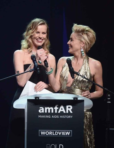 Eva Herzigova and Sharon Stone