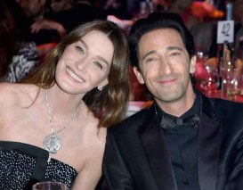 Carla Bruni-Sarkozy and Adrien Brody