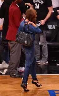 Celebrites Attend The Miami Heat Vs Brooklyn Nets Game - May 12, 2014