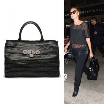 heidi klum Soft Signature Versace handbag