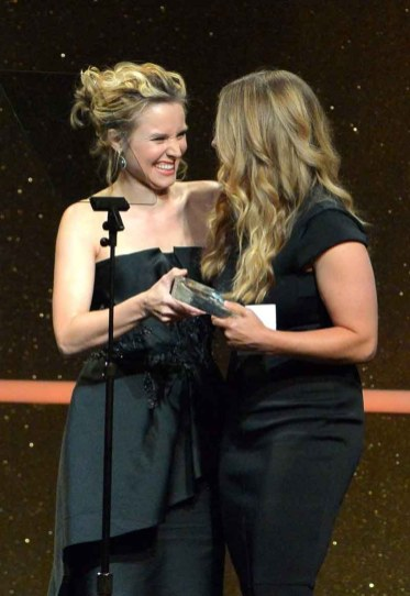 Kristen Bell and Jennifer Lee