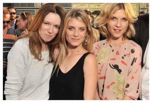 Clare Waight Keller, Mélanie Laurent and Clémence Poésy