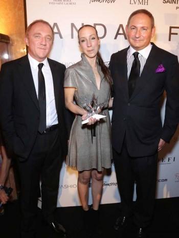 François-Henri Pinault & Iris Van Herpen & John Demsey