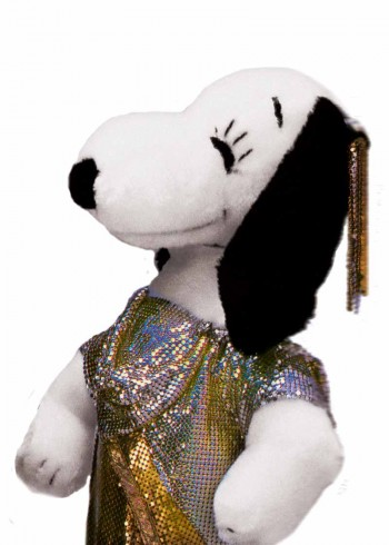 Snoopy in Versace designed by Gianni Versace