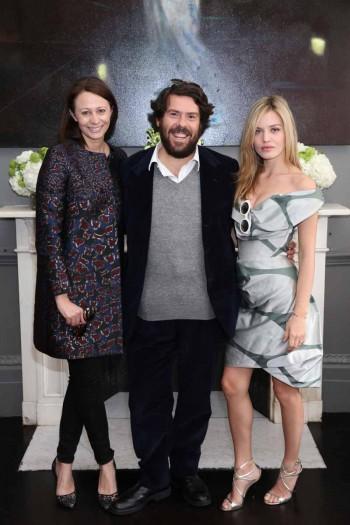 Caroline Rush, Fabio d'Angelantonio and Georgia May Jagger (Darren Gerrish, British Fashion Council)2