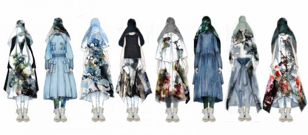 Illustrated Lineup by Liz Li, M.F.A. Fashion Design, and Bom Kim, M.F.A. Knitwear Design