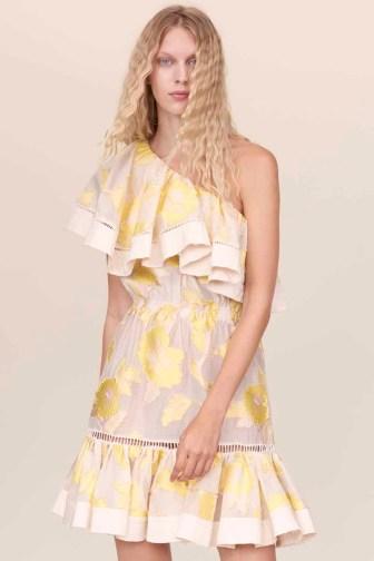 Rebecca Taylor Floral One Shoulder Dress