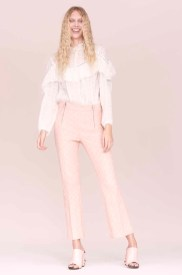 Rebecca Taylor Eyelet Blouse and Cropped Pant Spring 2016