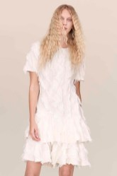 Rebecca Taylor Bias Fringed Ruffle Dress Spring 2016
