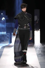 DESIGUAL_NYFW_AW17_ATWALK_LOOK 1 NEW YORK, NY - FEBRUARY 09:A model walks the runway at the Desigual show New York Fashion Week The Shows at Gallery 1, Skylight Clarkson Sq on February 9, 2017 in New York City