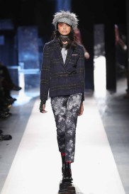 DESIGUAL_NYFW_AW17_ATWALK_LOOK 15 NEW YORK, NY - FEBRUARY 09:A model walks the runway at the Desigual show New York Fashion Week The Shows at Gallery 1, Skylight Clarkson Sq on February 9, 2017 in New York City