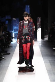 DESIGUAL_NYFW_AW17_ATWALK_LOOK 29 NEW YORK, NY - FEBRUARY 09:A model walks the runway at the Desigual show New York Fashion Week The Shows at Gallery 1, Skylight Clarkson Sq on February 9, 2017 in New York City