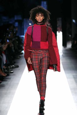 DESIGUAL_NYFW_AW17_ATWALK_LOOK 31 NEW YORK, NY - FEBRUARY 09:A model walks the runway at the Desigual show New York Fashion Week The Shows at Gallery 1, Skylight Clarkson Sq on February 9, 2017 in New York City