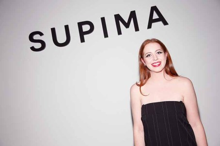 NEW YORK, NY - SEPTEMBER 07: Designer Alyssa Wardrop, Fashion Institute of Technology backstage at Supima Design Competition SS18 runway show during New York Fashion Week at Pier 59 on September 7, 2017 in New York City. (Photo by Brian Ach/Getty Images for Supima Design Competition)