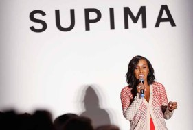 NEW YORK, NY - SEPTEMBER 07: June Ambrose speak onstage at Supima Design Competition SS18 runway show during New York Fashion Week at Pier 59 on September 7, 2017 in New York City. (Photo by Brian Ach/Getty Images for Supima Design Competition)