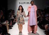 NEW YORK, NY - SEPTEMBER 07: Margaret Kwon, Parsons The New School walks the runway at Supima Design Competition SS18 during New York Fashion Week at Pier 59 on September 7, 2017 in New York City. (Photo by JP Yim/Getty Images for Supima Design Competition)