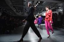 LONDON, ENGLAND - FEBRUARY 16: Models walk the runway at the Marta Jakubowski show during London Fashion Week February 2018 at BFC Show Space on February 16, 2018 in London, England. (Photo by Ian Gavan/BFC/Getty Images)