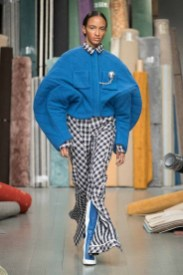 Spring Studios, 180 The Strand, London UK. 16th February 2018. Richard Malone opens London Fashion Week Spring Summer 2018 with his catwalk show. ©Chris Yates