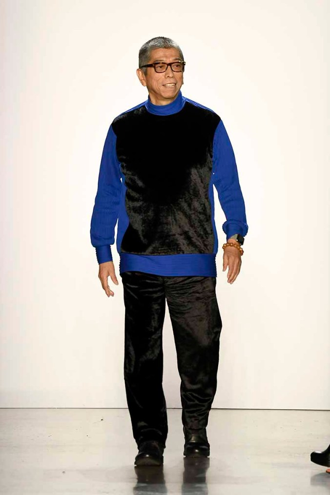 NEW YORK, NY - FEBRUARY 08: Fashion Designer Tadashi Shoji walks the runway for Tadashi Shoji during New York Fashion Week: The Shows at Gallery I at Spring Studios on February 8, 2018 in New York City. (Photo by Frazer Harrison/Getty Images for Tadashi Shoji)