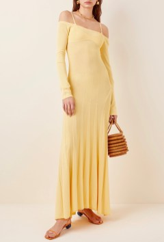 Jacquemus Off-The-Shoulder Jersey Maxi Dress, $705 at Moda Operandi
