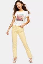 Topshop Yellow Straight Jeans, $95 at Topshop