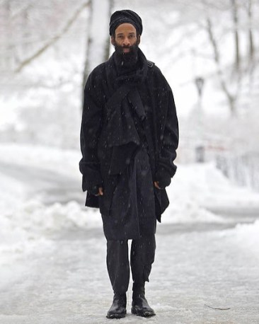 Designer EPPERSON wearing one of his designs. Photo credit EPPERSON.