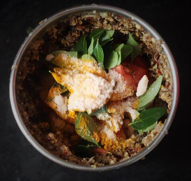 fresh masala in mixie jar