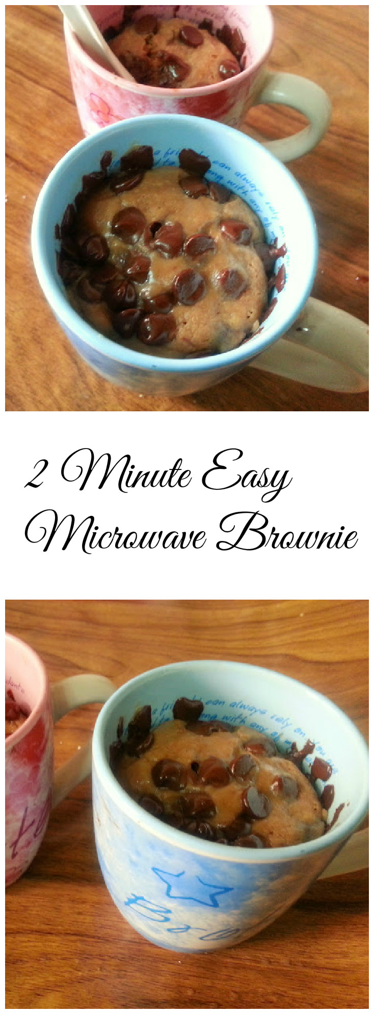 2 Minute Easy Microwave Brownie