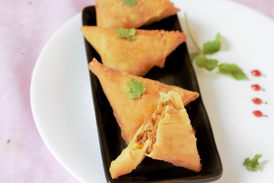 meat keema samosa recipe