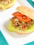 shredded chicken salad sandwich