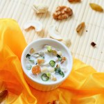 nuts and dry fruits raita recipe-how to make delicious nuts and dry fruits raita recipe