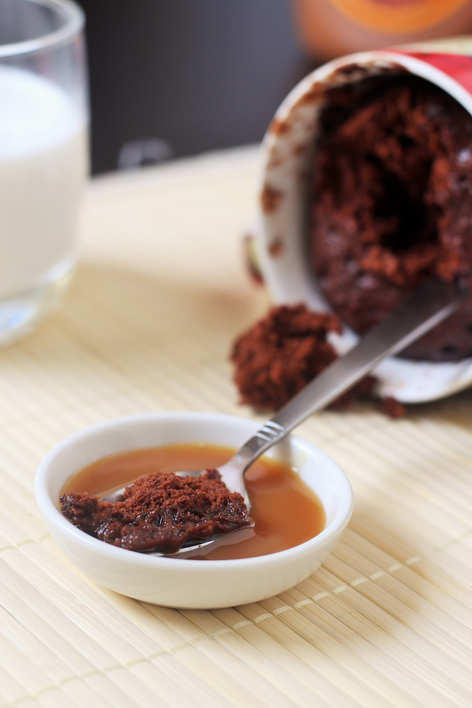 microwave chocolate cake-recipe for making chocolate cake in a mug within 1 minute