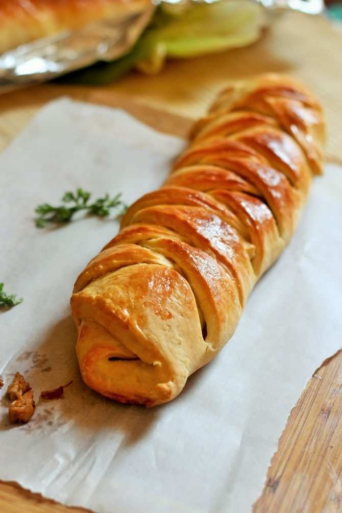Homemade Chicken Bread Recipe placed on a baking paper