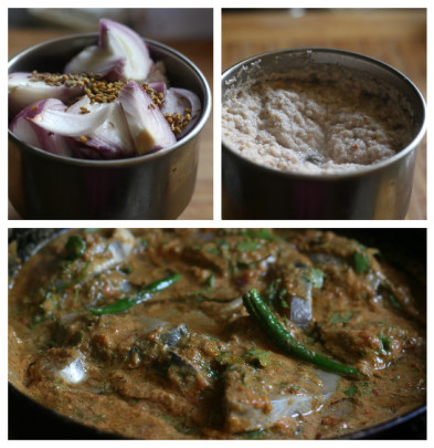 fish curry collage