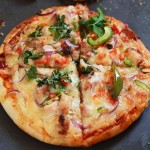 Tandoori Chicken Pizza Recipe-Chicken Tandoori Pizza Indian