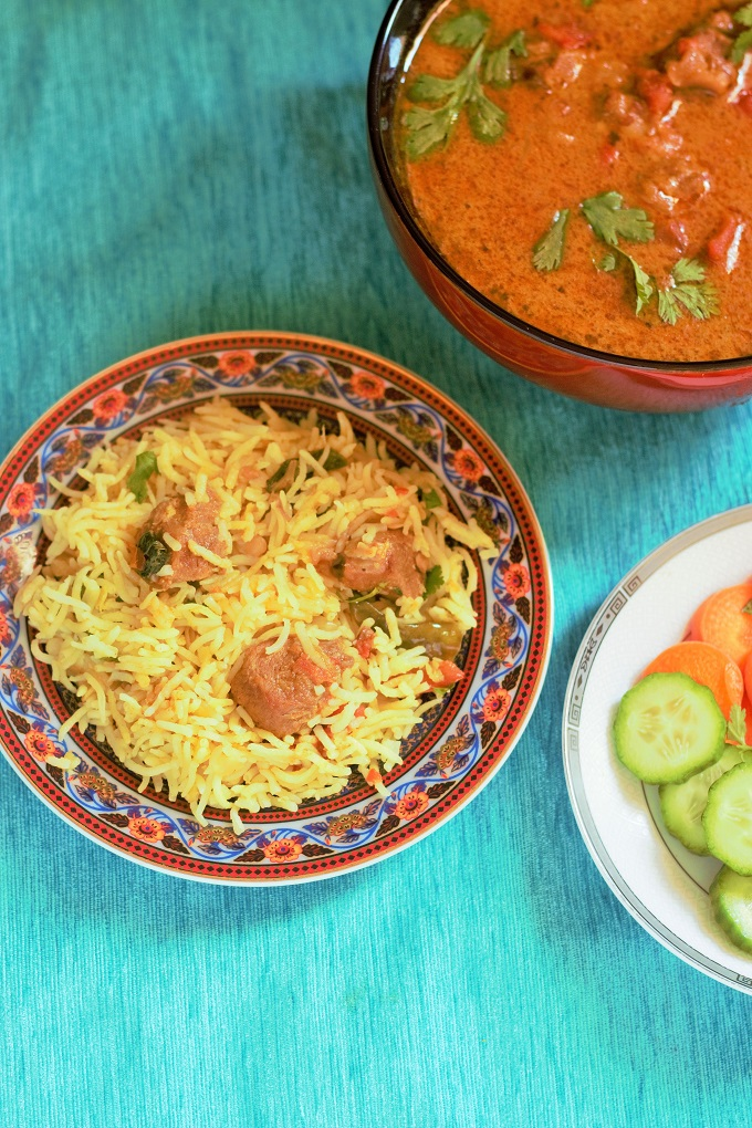 Mutton Tahari recipe - Tehari recipe. A delicious one pot meal made with mutton and rice in aromatic spices.