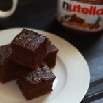 Simple 3 ingredient Nutella Fudge Cake recipe - A quick and simple chocolate cake recipe made with nutella and just two other ingredients. These are so simple and quick to put together that you will definitely not be disappointed with it.