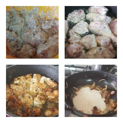 dahi chicken collage