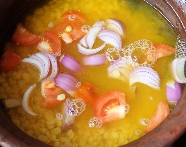 water added in the toor dal