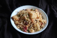 Veg Pulao Recipe in a white plate