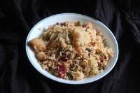 Veg Pulao Recipe in a white plate
