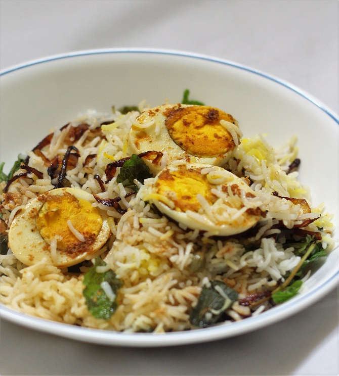 Simple egg biryani recipe as the name suggests is pretty easy and simple to make. It doesn't take a long time to cook unlike the other biryani varieties.