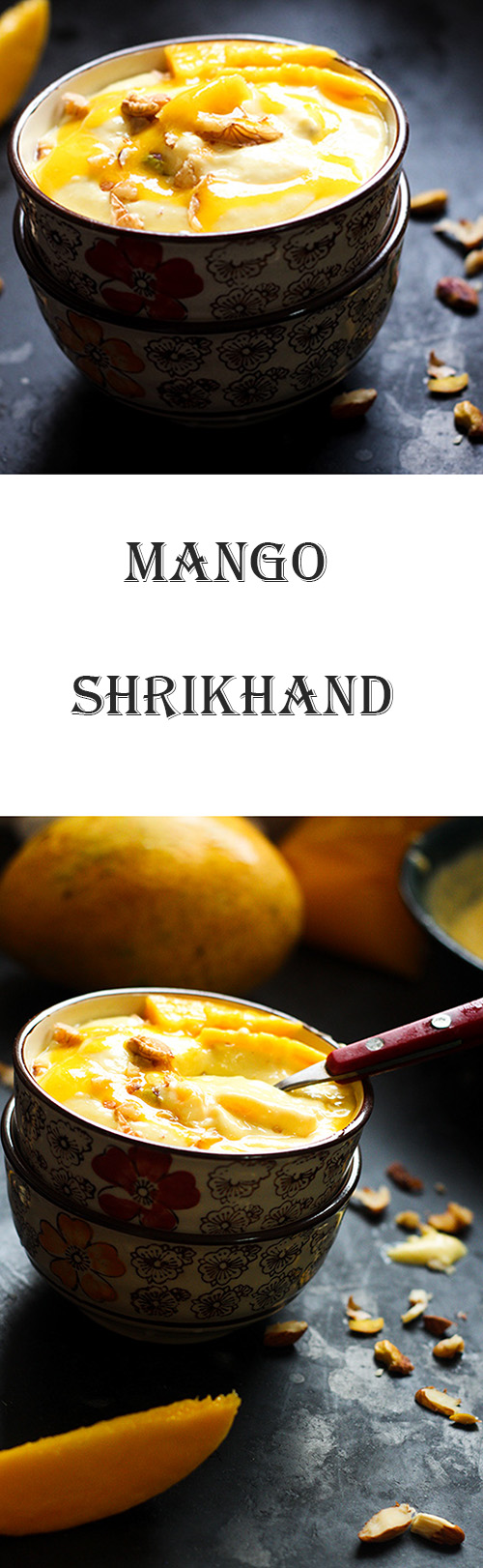 Mango Shrikhand or amrakhand recipe is a delicious dessert made with yogurt and mango.